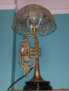 braintree_antiques_centre_trumpet_lamp
