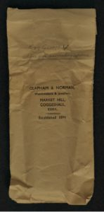 Clapham & Norman Envelope